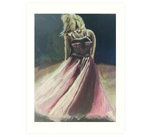 The Pink Dress Art Print