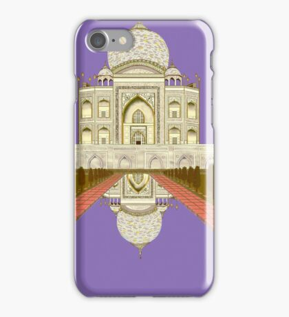 A Still Day in Agra (purple) iPhone Case/Skin