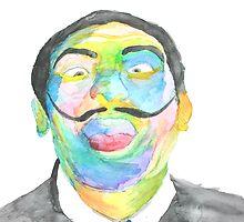 Salvador Dali Watercolor by ArielleAlysse