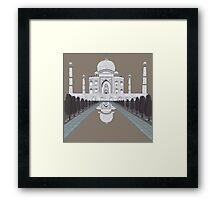 A still day in Agra (sepia) Framed Print