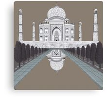 A still day in Agra (sepia) Canvas Print