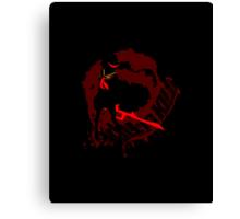 Ryuko Will Kill Yah - black Canvas Print