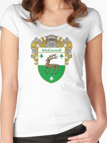 McConnell Coat of Arms/Family Crest Women's Fitted Scoop T-Shirt
