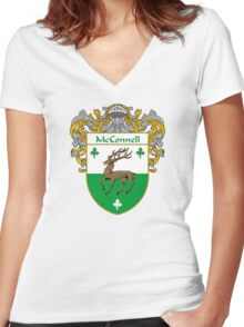 McConnell Coat of Arms/Family Crest Women's Fitted V-Neck T-Shirt