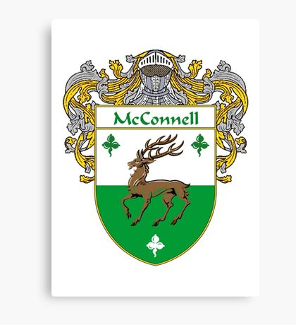 McConnell Coat of Arms/Family Crest Canvas Print