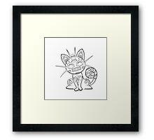 Meowth de los Muertos | Pokemon & Day of The Dead Mashup Framed Print