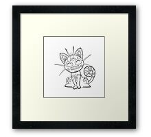 Meowth de los Muertos | Pokemon & Day of The Dead Mashup Framed Print