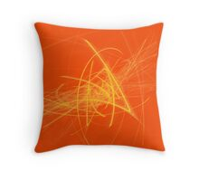 Citrus Fractal Throw Pillow