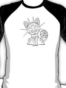 Meowth de los Muertos | Pokemon & Day of The Dead Mashup T-Shirt