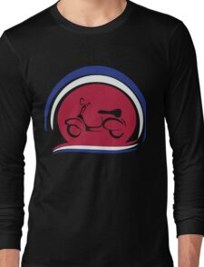 Retro scooter with abstract mod target Long Sleeve T-Shirt