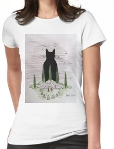 God-Cat Womens Fitted T-Shirt