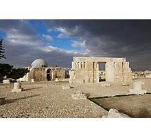 Jordan - Amman - Citadel and Umayyad Palace Photographic Print