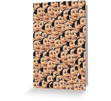 Kim Kardashian Ugly Face Greeting Card
