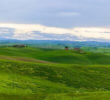 Val d'Orcia, early morning, Tuscany Italy by Andrew Jones