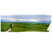 Val d'Orcia, early morning, Tuscany Italy Poster