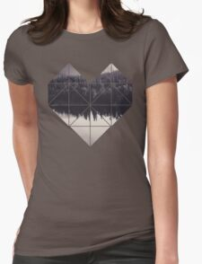 Geometric art - heart Womens Fitted T-Shirt