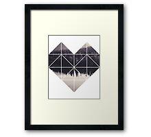 Geometric art - heart Framed Print