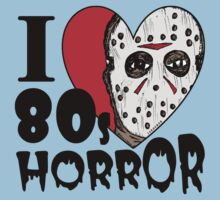 I Heart 80s Horror Kids Tee