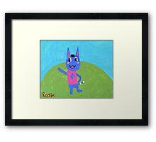 Animal Crossing Series- Rosie Framed Print