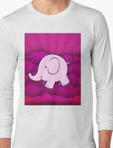 pink elephant Long Sleeve T-Shirt
