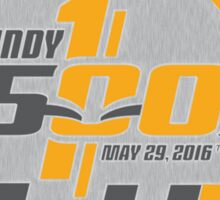 indianapolis, 500, 100th, racing, may 29 2016, indy 500, carb day, legend day, indiana, brickyard, america, motor, sport, speedway, the racing capital of the world, race day. Sticker