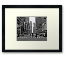 Times Square early New Years Day Framed Print