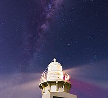 Milky Way over Fingal Head Lighthouse by Stephen Waller