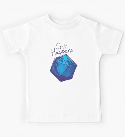 Crit Happens D20 Gamer | Natural 20 Kids Tee