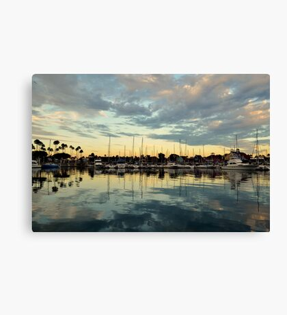 Shoreline Village Marina Canvas Print