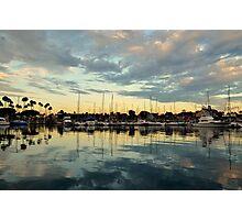 Shoreline Village Marina Photographic Print