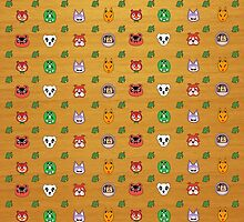 Animal Crossing repeat design by DGomez227