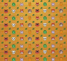 Animal Crossing repeat design by DGomez227