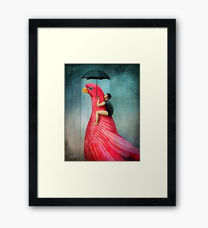 Under My Umbrella Framed Print