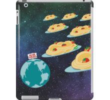 Space invader spaghetti welcome overlords iPad Case/Skin