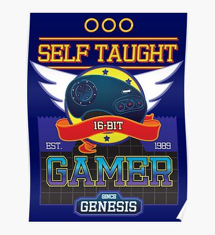 Self Taught Gamer of the 16-Bit Era Poster