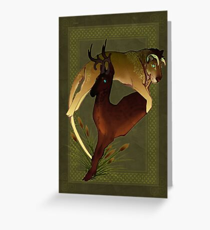 The Lion & The Deer Greeting Card
