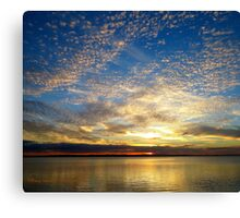 """Champagne Sky"" Sunset Wellington Point, QLD Canvas Print"