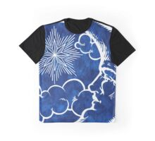Moon vintage blue Graphic T-Shirt