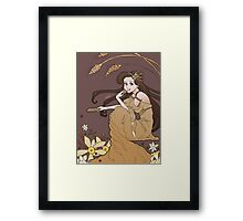Mucha Cookie - Chocolate Chip Framed Print