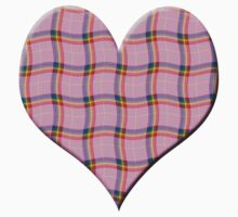 Rainbow checks loveheart (Digital composition) Kids Clothes