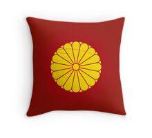 Japanese Emperor seal Throw Pillow