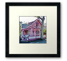 Pink Gingerbread House Framed Print