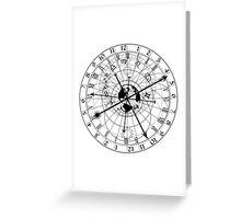 astronomical clock Greeting Card
