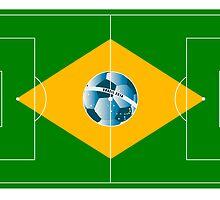 Brazil football field by siloto
