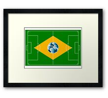 Brazil football field Framed Print