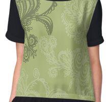 abstract floral Chiffon Top