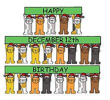 Cats celebrating birthdays on December 12th. by KateTaylor