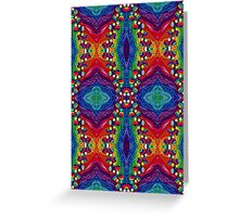 Psychedelic Abstract colourful work 240(Tile) Greeting Card