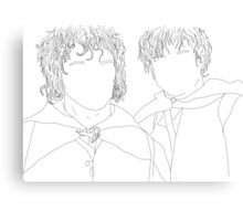 lord of the rings/lotr samwise and frodo illustration Canvas Print
