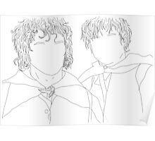 lord of the rings/lotr samwise and frodo illustration Poster